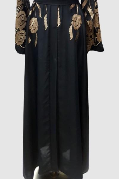 Anoosh Embroidery Kimono Abaya