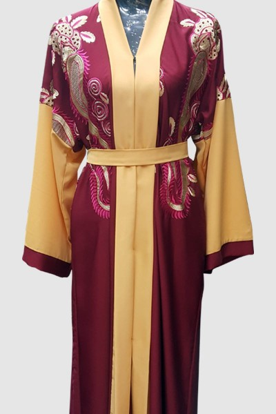 Fancy Nida Embroidery Abaya