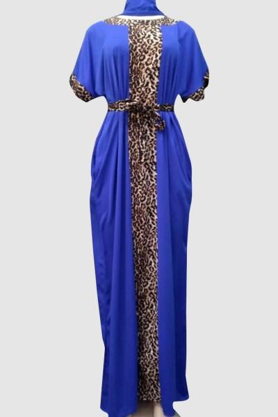 Modest Print Casual Dress