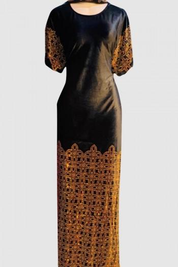 Modest Fancy Velvet Abaya