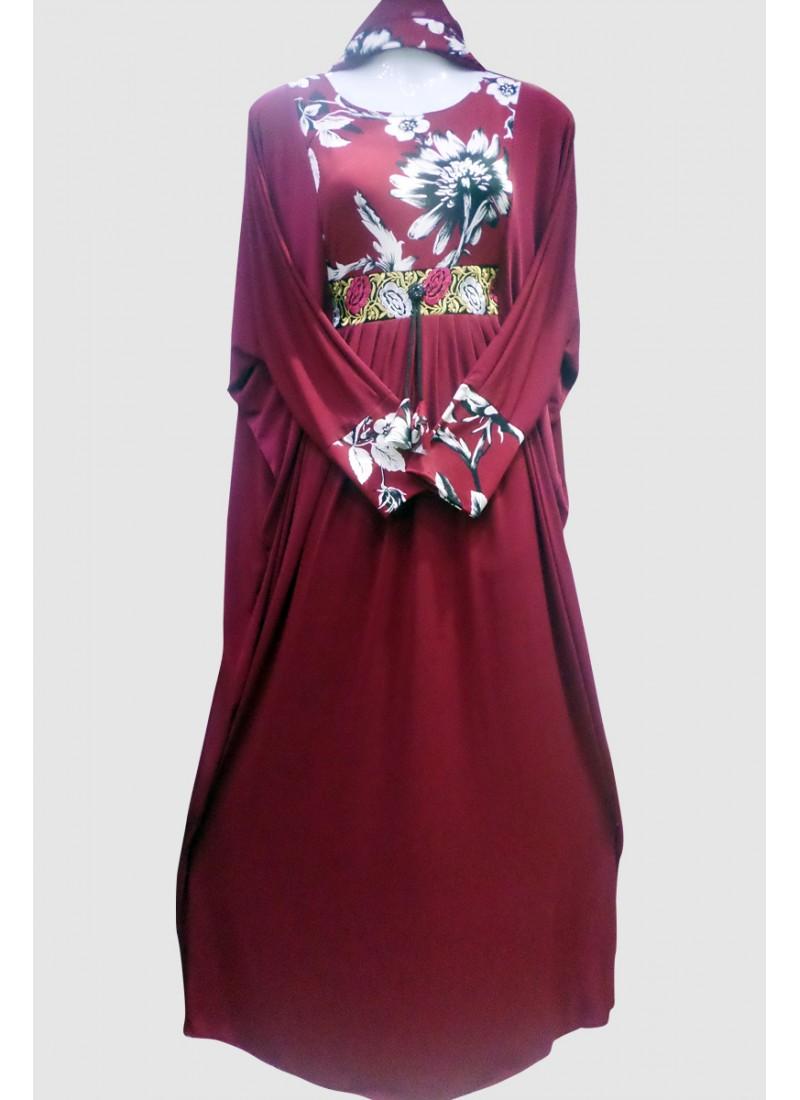 Floral Printed Abaya