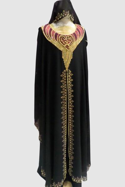 Kid's Fancy Abaya (6 Pieces Set)