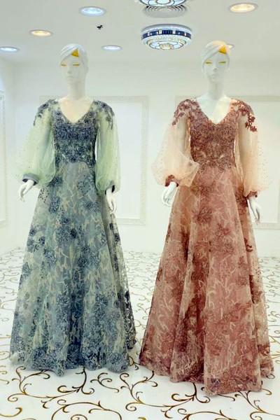 Ellolace Gown (3 Pieces Set)