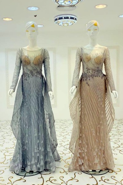 Layered Party Gown (3 Pieces Set)