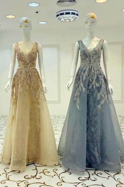 Exclusive Party Gown (3 Pieces Set)