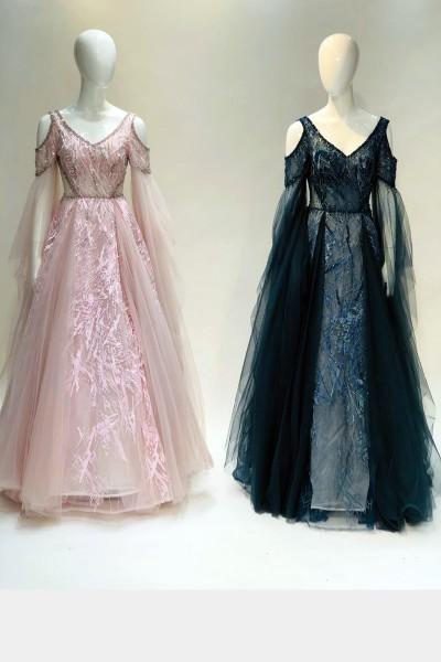 Modest Party Gown (3 Pieces Set)