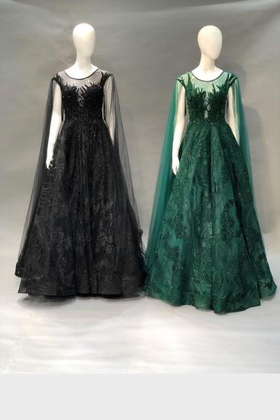 Trendy Party Gown (3 Pieces Set)