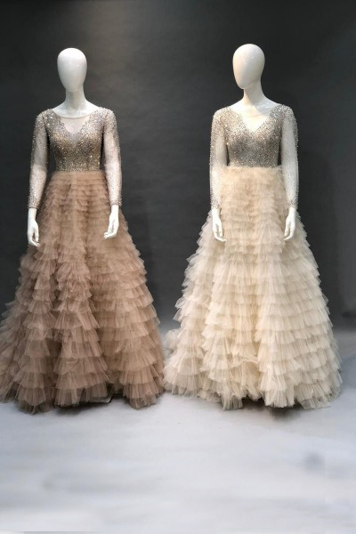 Cocktail Party Gown (3 Pieces Set)