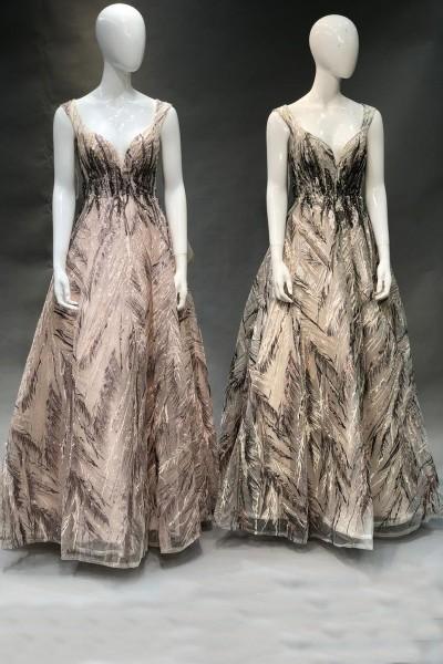 Lace Up Party Gown (3 Pieces Set)