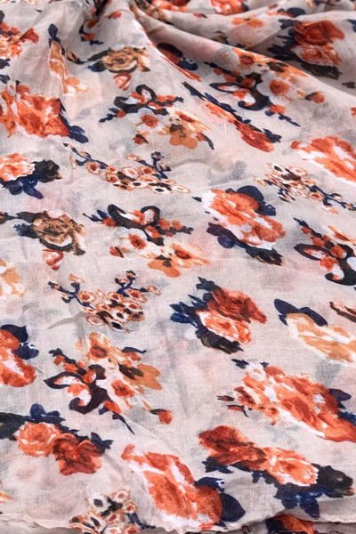 Floral Printed Scarf (Dozen Set)