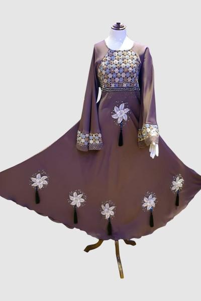 Net Fancy Abaya (6 Pieces Set)