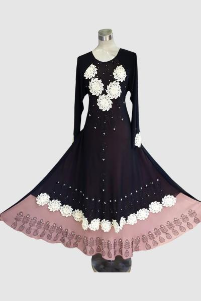 Fashionable Abaya (6 Pieces Set)
