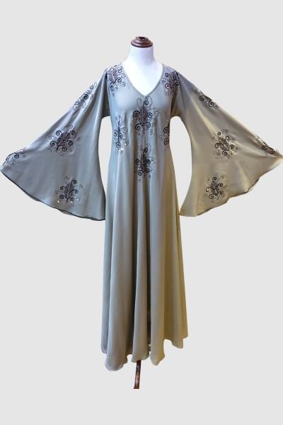 Crystal Work Abaya (6 Pieces Set)