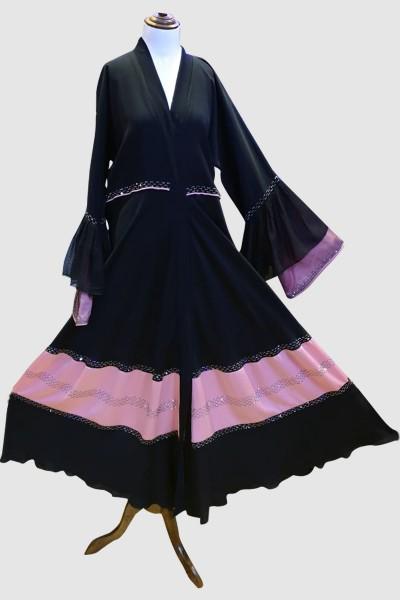 Stylish Open Abaya (6 Pieces Set)