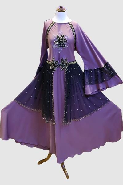 Umbrella Lace Abaya (6 Pieces Set)