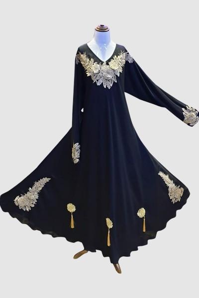 Turkish Lace Abaya (6 Pieces Set)