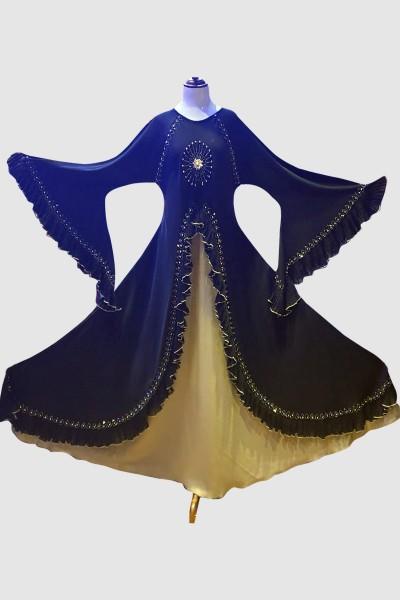 Double Layer Abaya (6 Pieces Set)