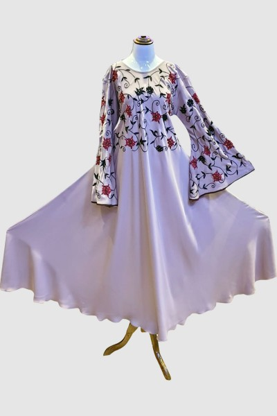 Solid Color Abaya (6 Pieces Set)