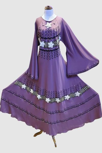Flare Umbrella Abaya (6 Pieces Set)