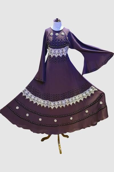 Cardigan Lace Abaya (6 Pieces Set)