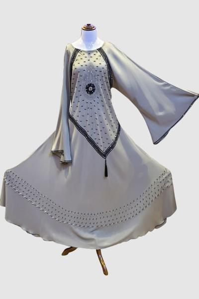 Pretty Crystal Abaya (6 Pieces Set)