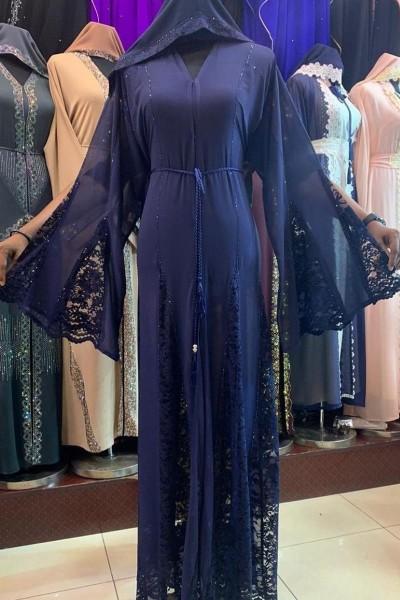 (3 Pieces Set) Net Abaya