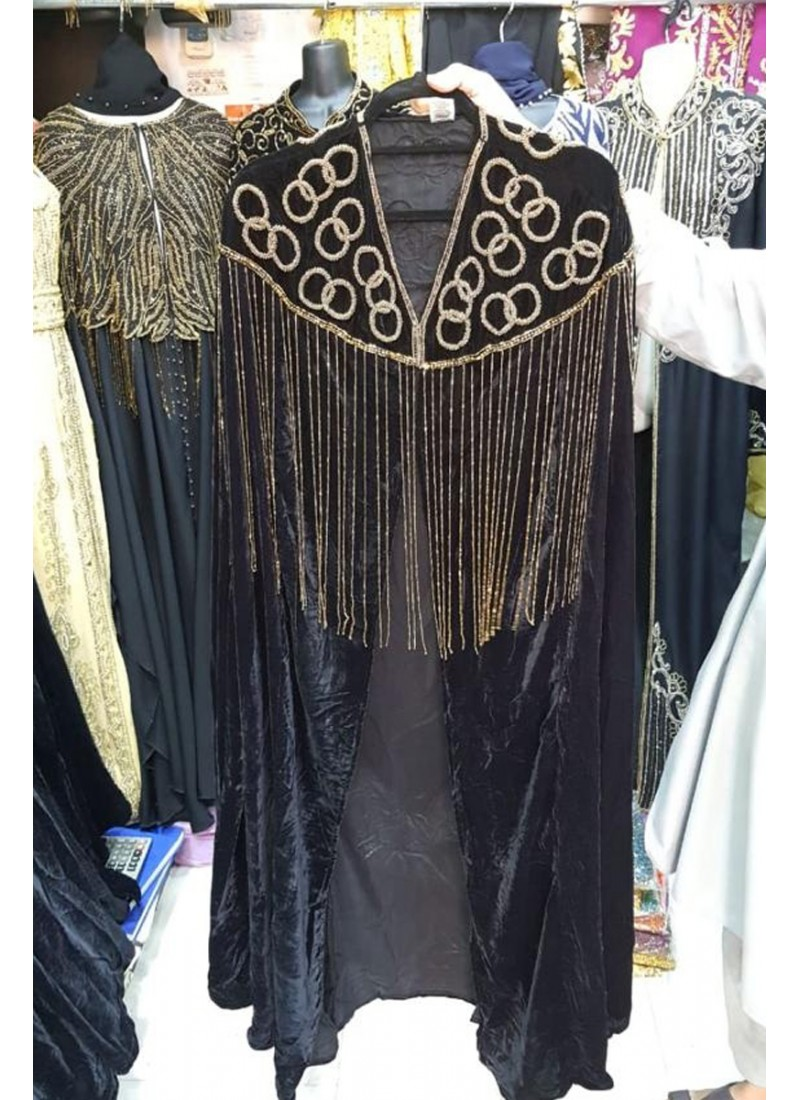 Velvet Shinning Stone Abaya Coat