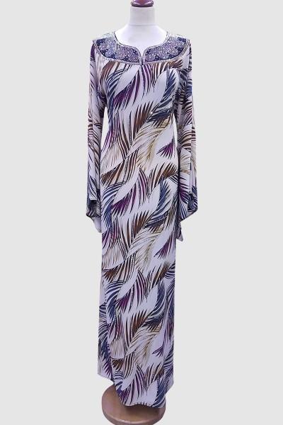 Fransic Sleeve Fancy Abaya