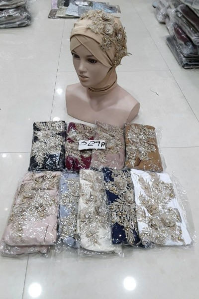 Flower Crystal Fancy Hijabs