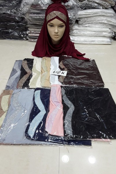 Jersey Gold Crystal Hijabs