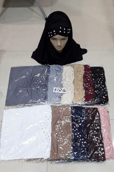 White Beaded Hijabs