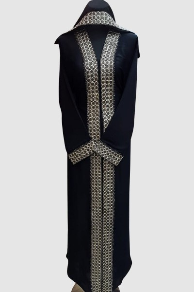 Open Embroidery Lace Abaya