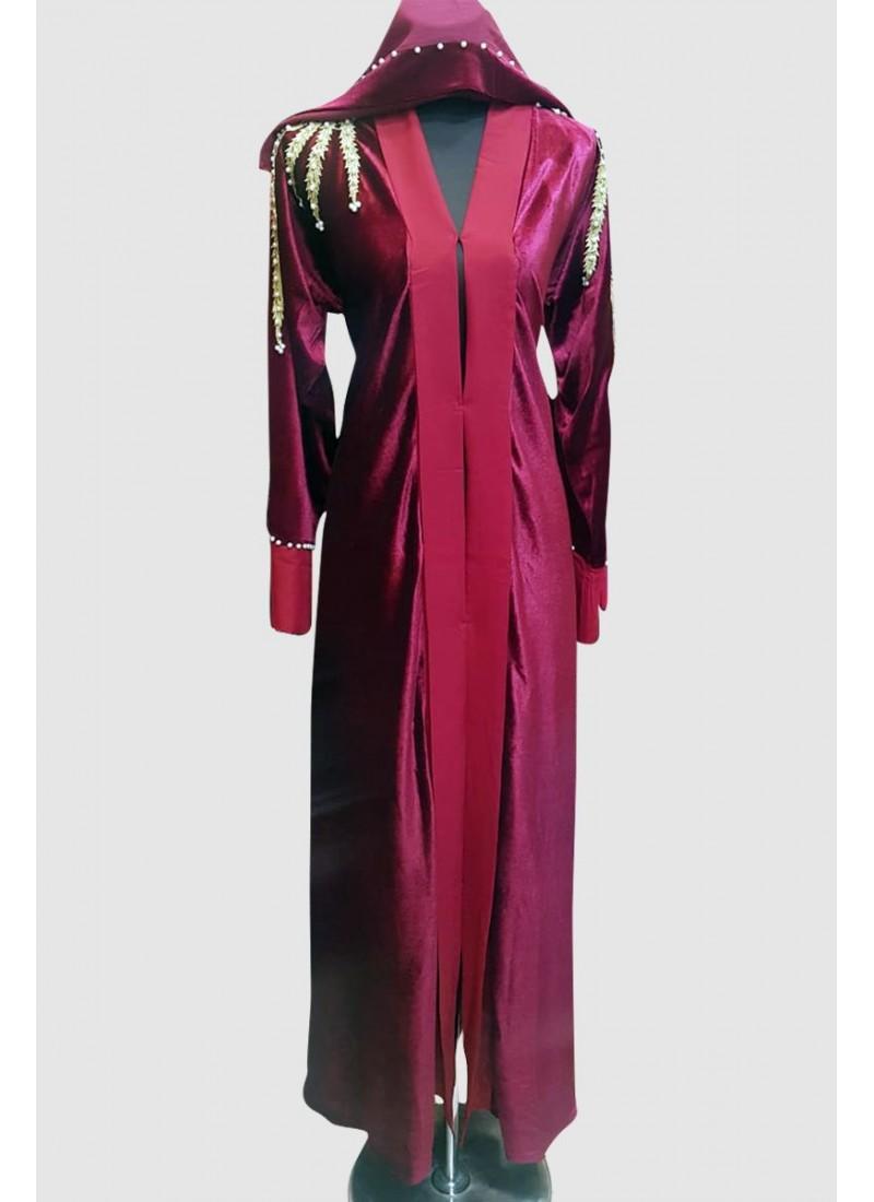 Modest Classy Velvet Abaya