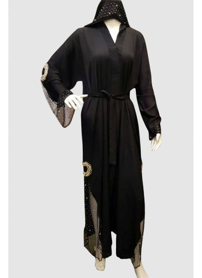 Classy Crystal Fancy Abaya
