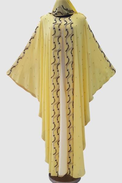 Double Layer Farasha Abaya