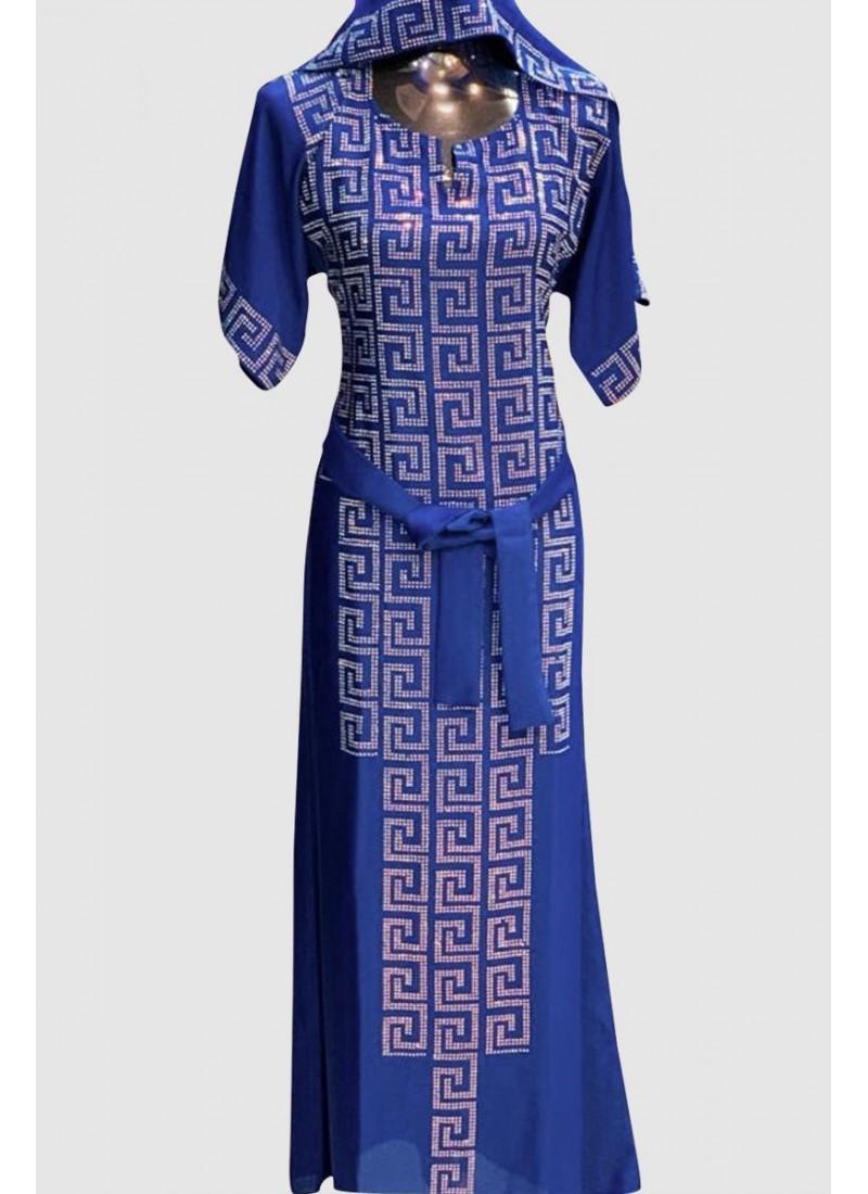 Short Sleeve Fancy Abaya