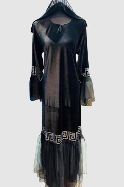 Close Crystal Modern Abaya