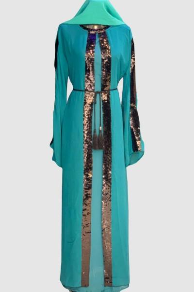 Fancy Alstroemeria Abaya