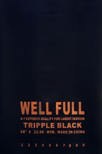 Tripple Black Nida Fabric