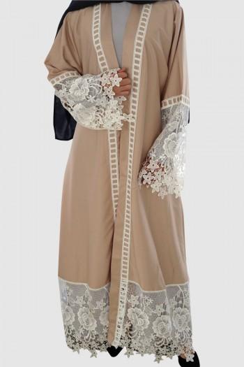 Net Lace Abaya Free Shipping