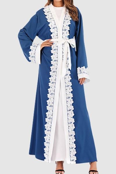 Floral Lace Abaya Free Shipping