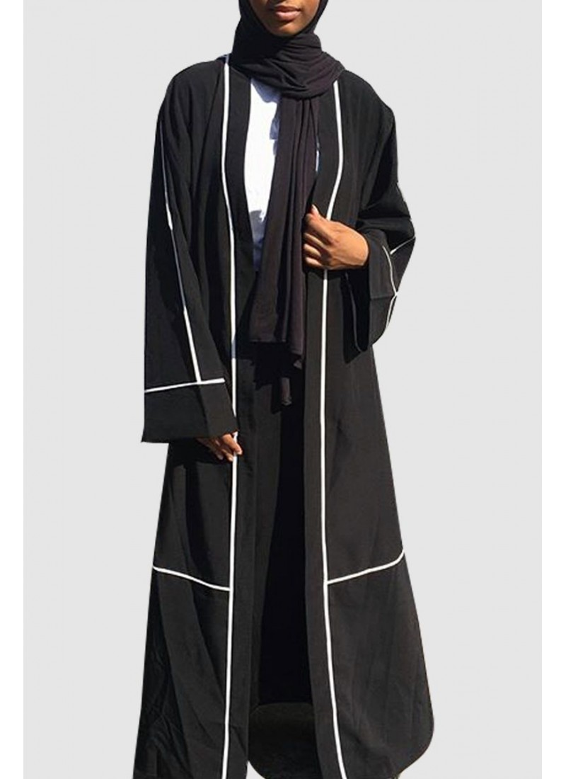 Black Stylish Abaya Free Shipping