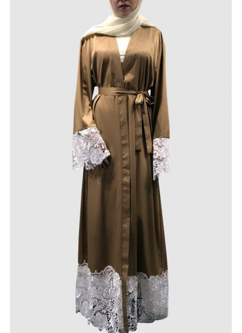 Fancy Lace Abaya Free Shipping