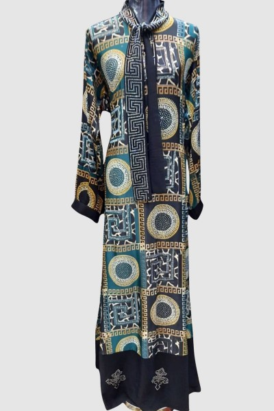 Modest Crystal Fancy Abaya