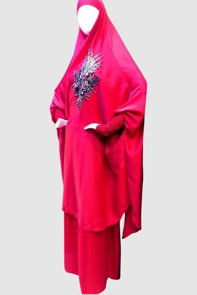 Rose Islamic Pray Abaya (6 Pieces Set)