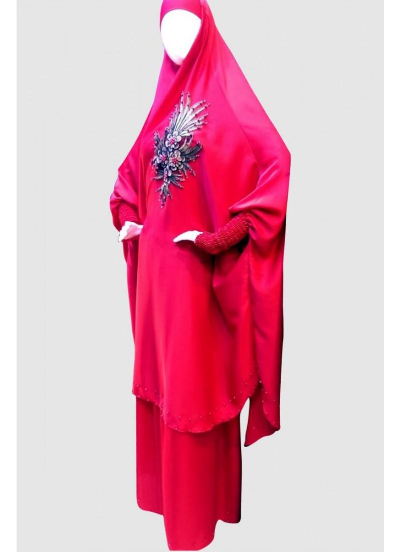 Flowing Rose Islamic Pray Abaya