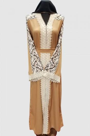 Floral Net Modest Abaya