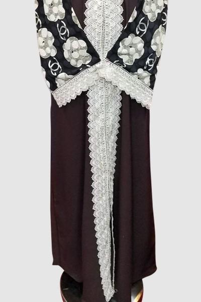 Floral Net Kimono Abaya