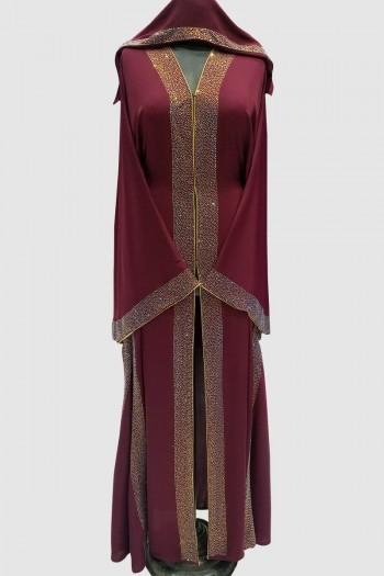 Crystal Fransic Sleeve Abaya