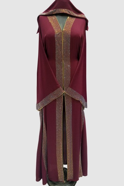 Crystal Fransic Sleeve Abaya
